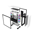 Picture of Kućište SHARKOON gaming, ELITE SHARK CA300H 4x120 mm Addressable RGB Fans, white